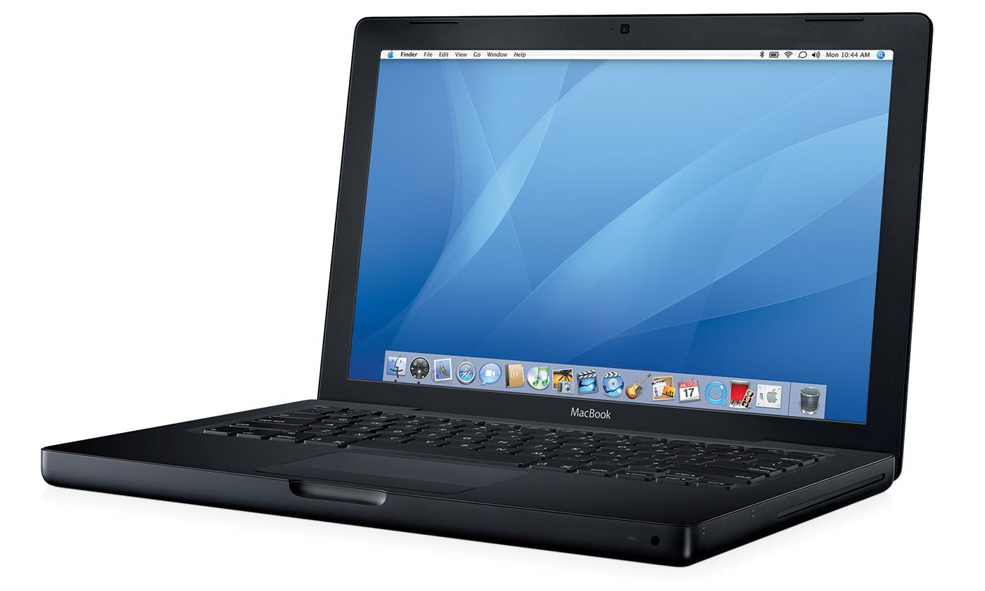 Apple MacBook in black