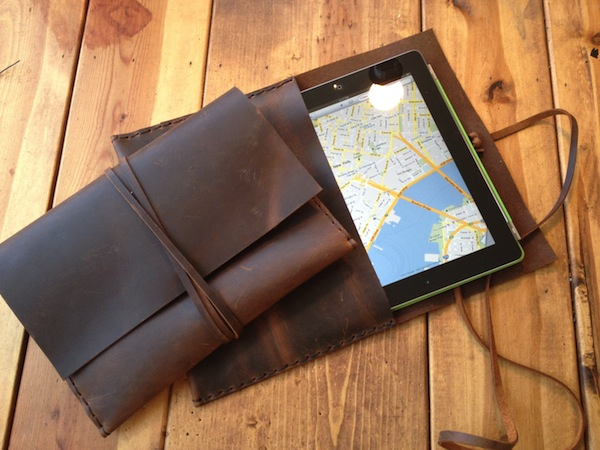 Macombs Dam Bridge Leather iPad Envelope