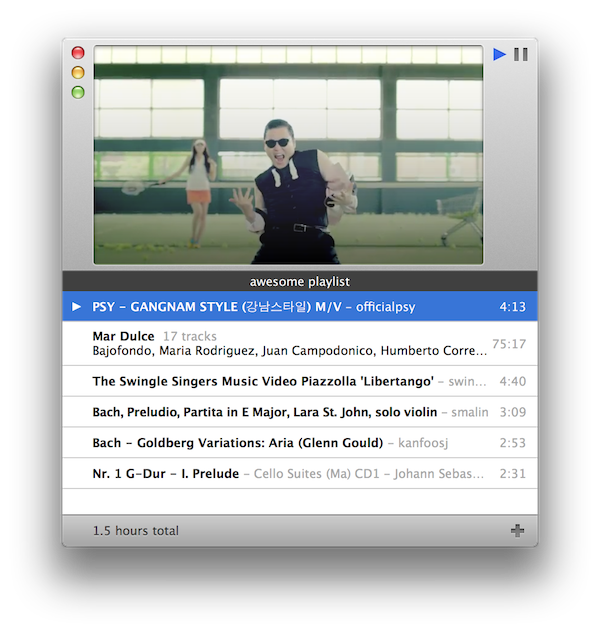 Nasturtium Player for OS X